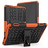 ROISKIN for 10th Generation Tablet 8/8 Plus Case Cover Not for Samsung Tab A Tablet 8 inch Case Dual Layer Anti-Slip Shockproof Armor Protective Case with Kickstand,Orange