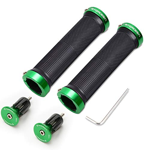 TOPCABIN Bicycle Grips,Double Lock on Locking Bicycle Handlebar Grips Rubber Comfortable Bike Grips for Bicycle Mountain BMX
