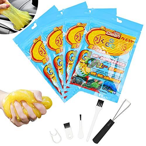 Gel Limpiador, Kit Limpieza Coche de Teclados Para Portátiles y PC, Limo Limpiador de Coches Para el Kit de Limpieza del Polvo del Coche y Electrónica.