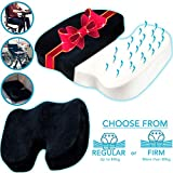 Orthopedic Memory Foam Seat Cushion for Sciatica, Coccyx Tailbone, Back Pain Pressure Relief