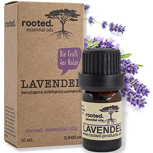 rooted.® - 10ml Lavendelöl - 100% naturreines ätherisches Lavendelöl (Lavandula Angustifolia) -...