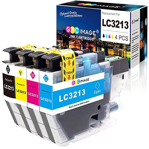 GPC Image LC-3213 Tintenpatronen als Ersatz für Brother LC3213 LC-3213 für Brother DCP-J572DW MFC-J497DW MFC-J890DW MFC-J895DW MFC-J491DW DCP-J772DW DCP-J774DW (Schwarz,Cyan Magenta Gelb, 4er-Pack)