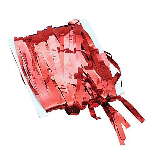 Novelty-PG001D Bristol Novelty PG001D Rideau à Franges, Couleur Rouge, Red, Taille Unique