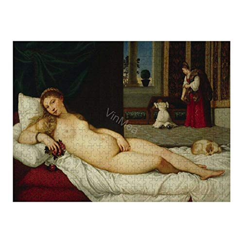 Wooden Collection Artwork - Puzzle Games - Jigsaw Puzzles 500 Pieces For Adults, Teens and Kids (Titian Venus of Urbino)
