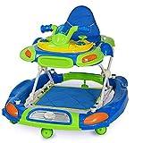 XH&XH Caminantes Seguridad 1er Caminante Forma de Coche Arranques Brillantes Caminar Caballo mecedor Variable Primeros Pasos Asiento para Caminante de bebé Ancho Ajustable Azul Rosa (Color: Azul)