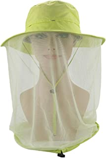 LYDIAMOON Moskito-Kopf-Netz-Hut Sonnenhut-Eimer-Hut Mit Verstecktem Netzmaschen-Schutz Vor Insekten-Wanzen-Bienen-Moskito-M/ücken F/ür M/änner Oder Frauen Im Freien