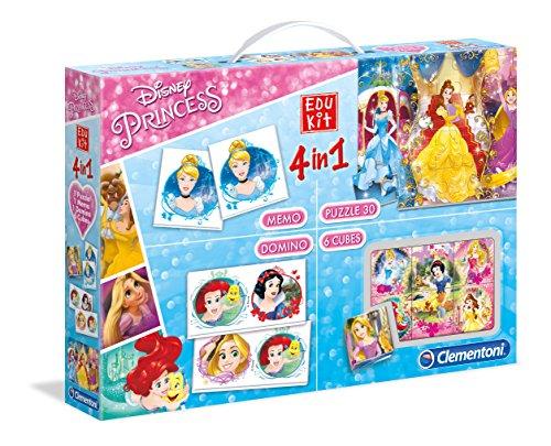 Clementoni - 13256 - Edukit 4 en 1 Princesses