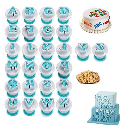 Tagliabiscotti da 26 lettere, lettere tagliabiscotti Deliziose lettere tagliabiscotti, accessori per fustellare e cuocere biscotti con lettere, stampini per biscotti per la decorazione di torte