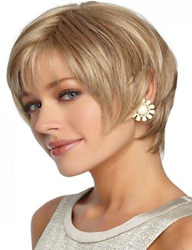jiayy Beste Qualität Perücke syntheic Blonde Haar Latium kurz, Blonde