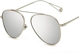 SGJFZD Outdoor Seaside Sunproof UV400 Trendy Ladies' Polarized Sunglasses Vintage Retro Fishing Sporting Large Frame Elegant Sunglasses (Color : Silver)