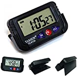 Flipco Digital LCD Alarm Table Desk Car Calendar Clock Timer Stopwatch Dashboard/Office Desk Alarm Clock and Stopwatch - Black