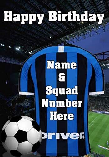 Pnc129 Inter Milan Happy Birthday Card, Può Essere Creato Per Qualsiasi Evento. Biglietti Di Auguri Personalizzati A5 Da Gifts For All 2016 Da Derbyshire UK