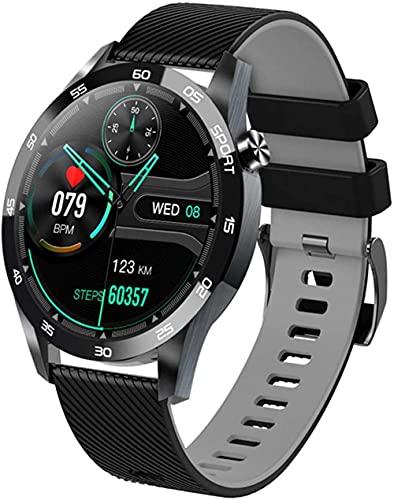 YLB Bluetooth 4 0 1 54 pulgadas reloj inteligente hombres Full Touch Fitness Tracker presión arterial reloj inteligente mujeres GTS reloj inteligente (color : B)