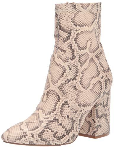 Steve Madden Women's Ragan Fashion Boot, Light Beige Snake, 9.5