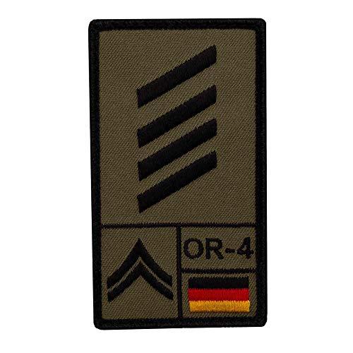 Café Viereck ® Stabsgefreiter Bundeswehr Rank Patch mit Dienstgrad - Gestickt mit Klett – 9,8 cm x 5,6 cm