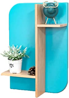 Floating Shelves AO Nordic Wall Mount Sky Blue Solid Wood to Create Living Room Bedroom Display Stand