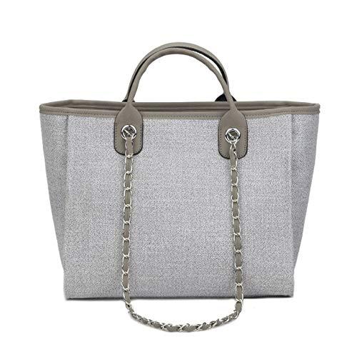 Europe and The United States Fashion Canvas Handbags, Fragrance Big Bag Chain Shoulder Bag Tide Large Capacity Bag Fitness Bag for All Women's Backpacks