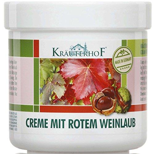 Kräuterhof 5er Vorteilspack Creme mit Rotem Weinlaub, 5 Dosen a 100ml