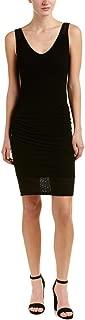 Michael Stars Women's Mesh Vee Neck Dress with Shirring