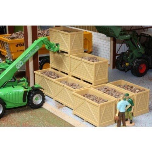 BRUSHWOOD Toy Farm BT2079 10 Potato Boxes with potatoes scale 1:32 by Brushwood