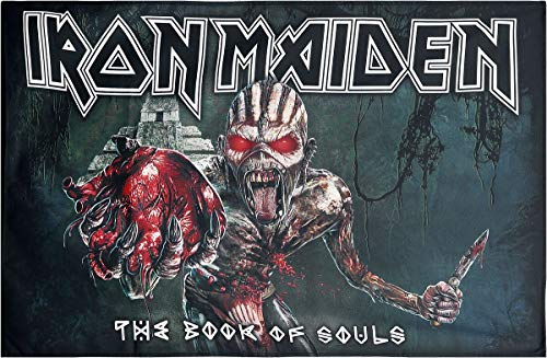 Iron Maiden The Book of Souls Unisex Flagge Mehrfarbig 100% Polyester Band-Merch, Bands