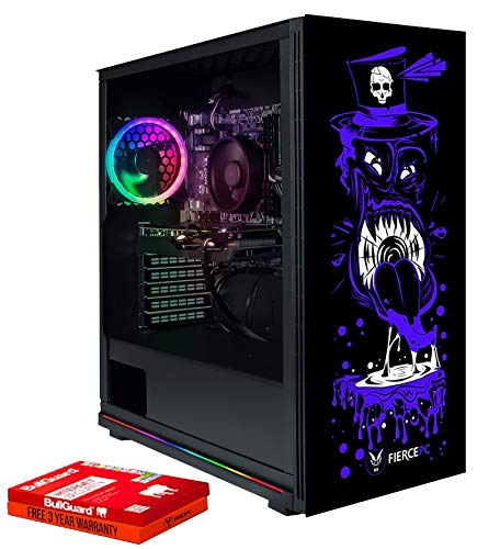Fierce Spiker RGB Gaming PC - Veloce 4.0GHz Quad-Core AMD Ryzen 3 2300X, 240GB Disco a Stato Solido, 1TB Disco Rigido, 16GB 3000MHz, NVIDIA GeForce GTX 1050 Ti 4GB, Finestre non Incluso 1117313