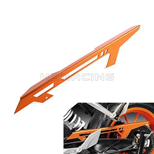 H2RACING Orange Rear Antrieb Fahrbahnkette Kettenschutz Kettenradschutz Kettenradabdeckung für Duke 125/200/390 2013-2016,RC 125/200/390 2014 2015 2016