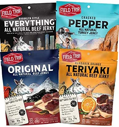 Field Trip All Natural Jerky Variety Pack All Natural and Grass Fed Beef Nitrate and Nitrite product image