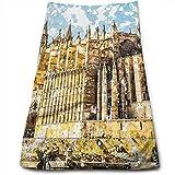 Gran edificio gótico de la costa del mar Catedral de Palma de Mallorca Vista desde la carretera, toallas de mano absorbentes suaves para el baño, hotel, gimnasio y spa