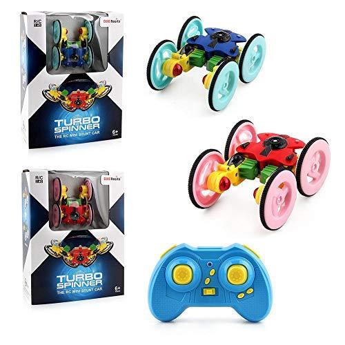 RC Car Toy - Control remoto de vehículos de carreras de coches, doble cara girando caída 360 grados flips de camión de carretera