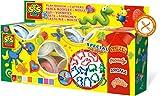 SES- Set de superpastamanía para Jugar y cortadores para niños, Multicolor (00498)