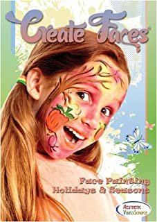 Create Faces Face Painting: Holidays & Seasons - Face Painting DVD - Learn How to Face Paint & Create Festive Looks For Any Holiday & Occasion - Step By Step Face Painting Designs For Valentine's Day, Christmas & More - Clown Training - Educational Video