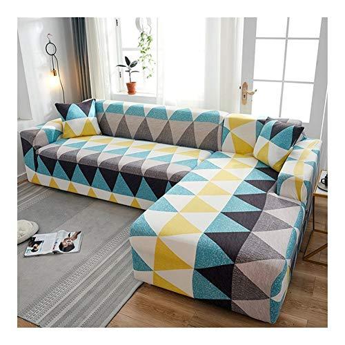 HUIJUNWENTI Sofá Cover elástica de algodón lo Necesita Cubiertas pida 2 Unidades de Esquina en Forma de L sofá seccional de la Cubierta de la Sala de Estar de Color sólido