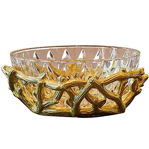 Fruitschaal kristal glazen vruchtenkom, woonkamer gedrogen dins snack snack candy tray candy dish Europese stijl