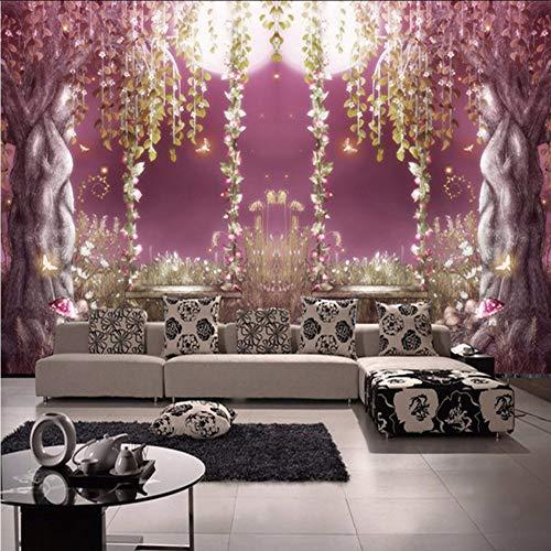 Xzfddn estilo europeo de cuento de hadas bosque romántico luz de la luna 3D mural papel pintado sala TV sofá fondo decoración de pared