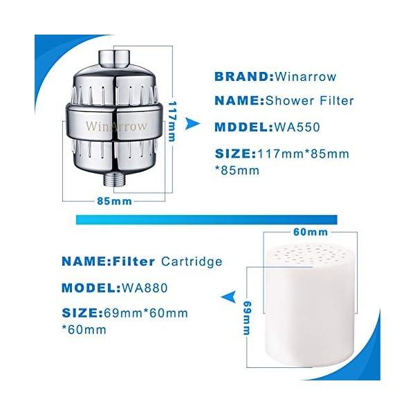 WinArrow Cartucho de Filtro, Filtración Compuesta WA880 Filtro de Repuesto para WA550 Alto Rendimiento para Eliminar el…