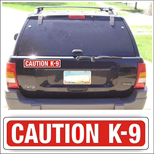 Solar Graphics USA Magnet Magnetic Sign Caution K-9 for Car Or Truck with Pets Show Canine Or Guard Dogs - 3 x 14 inch Block Sold Each, Be Sure Surface is Steel