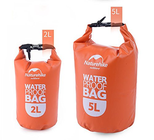 TRRE voyage en plein air sacs étanches sac dérivantes snorkeling sac de natation de la plage ( Couleur : Orange , taille : 5L )