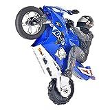 WGFGXQ Juguetes de Coche con Control Remoto, iluminación LED de Motocicleta RC Stunt, vehículos giratorios de 360 Grados con baterías, Regalos de Juguete para niños o niñas de 6 a 15 años (Azul)
