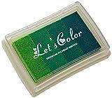Mopec K43.05 Almohadilla de Tinta Degradado Verde para Dedo, 7.5 x 5.2 cm, Espuma