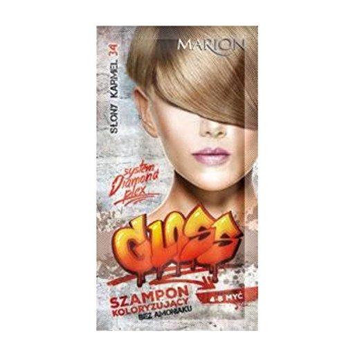Marion - Champú de color brillante para el cabello en bolsitas de 4 a 8 lavados Amonia FREE 34 Caramelo salado