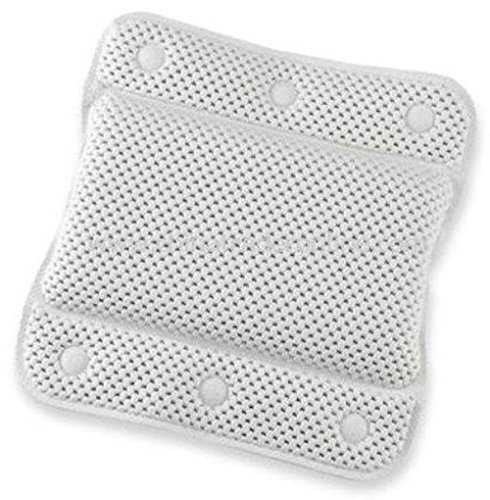 Posh Porschey White memory foam Relaxing Cushioned Bath Spa Pillow Head Neck Rest Relax Body