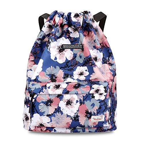 Risefit Drawstring Bags PE Bags Waterproof Gym Sack Daily Rucksack Book...