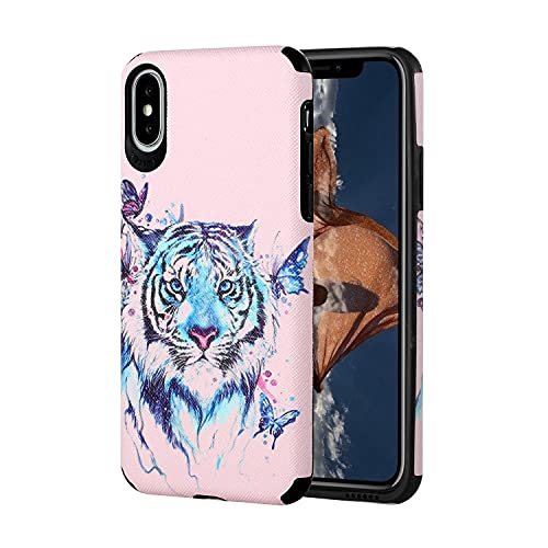 JZ For para iPhone XR Painted Funda Protective TPU Soft Cartoons Cover For para iPhone XR [Anti-Scratch][Anti-Fingerprint] - Tiger