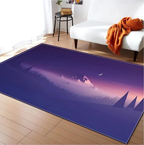 Creative Light- Tapis 3D MultiWare/Anti-Skid/Rectangulaire / Soft Pile Tapis Salon Chambre Étudier Cuisine Intérieure Mat Chevet Couverture (Couleur : #2, Taille : 120x180cm)