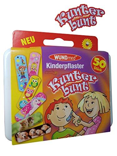 Box mit 50 Kunterbunten Kinderpflaster Klinikpackung Pflaster Kinder Wundpflaster Kunterbunt