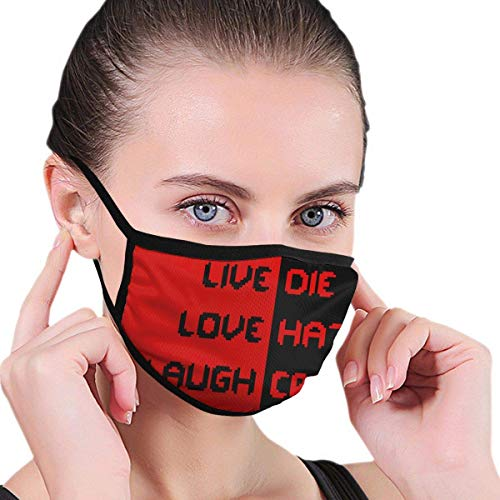 Preisvergleich Produktbild LIVE Liebe LACHEN Männer 'Frauen' Print Half Face Washable Wiederverwendbare Ohrabnutzung Halsmanschette Schlauchreinigung Gesichtswärmer