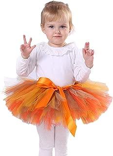 Tutu Dreams Orange Tutu Skirt for Girls 2-13Y Thanksgiving Day Halloween Birthday Party Dress up