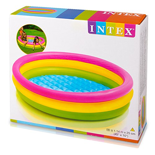 INTEX Piscine 3 Boudins Fond gonflable