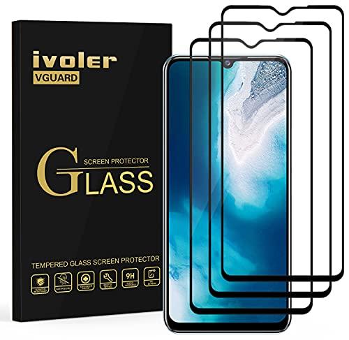 ivoler 3 Stück Panzerglas Schutzfolie für Vivo Y70 / Oppo Find X2 Lite 5G, [Volle Bedeckung] Panzerglasfolie, 9H Festigkeit, Anti-Kratzen, Anti-Bläschen, Hülle fre&lich, Kritall-Klar